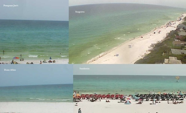 Walton County beach cams from ~2:00-2:30 PM